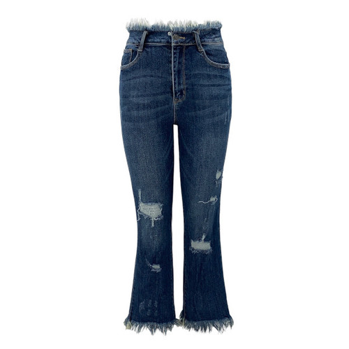 Selma High Waisted Cropped Straight Jeans