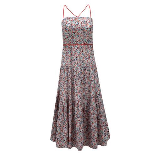 Englewood Cross Back Tiered Midi Dress