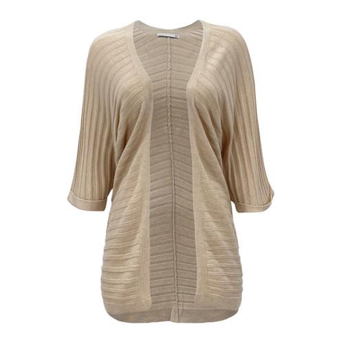 London Kimono Sleeve Ribbed Cardigan - Oatmeal