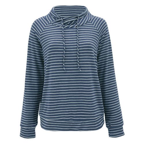 More To Love Striped Pullover - Navy