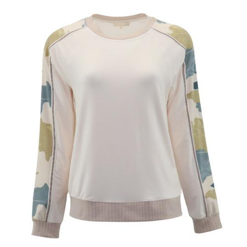 A Bright Future Camo Sleeve Pullover