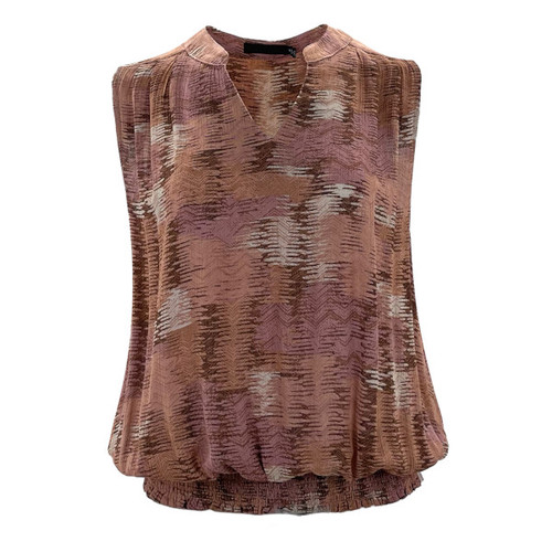 Some Day Soon Sleeveless Blouse - Rose Mix