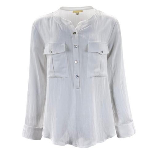 Ashland White Button Detail Shirt