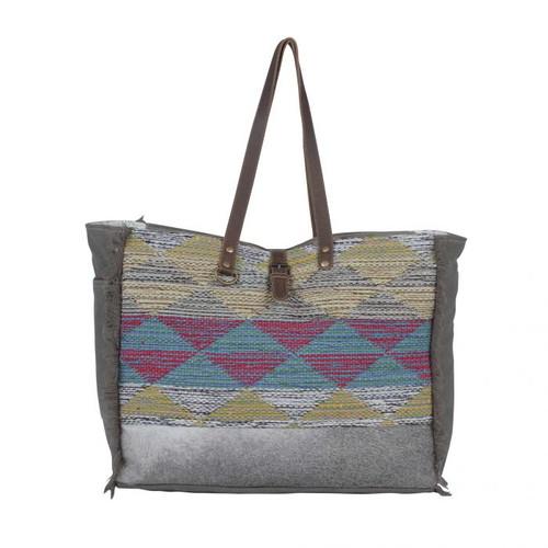 Vibrant Pyramids Weekender Bag