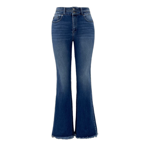 Raleigh High Rise Modern Flare Jeans By KanCan