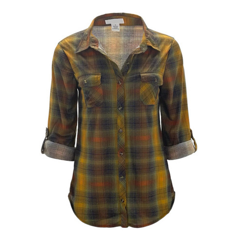Your New Favorite Flannel - Rust/Mustard