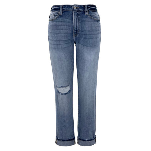Jenny High Rise Mom Fit Jeans by KanCan
