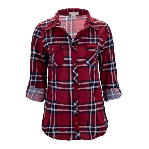Your New Favorite Flannel - Red/Navy Plaid