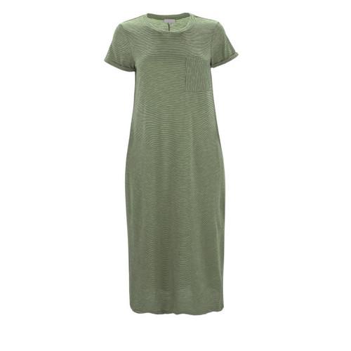 Reese Midi Length T-Shirt Dress - Olive