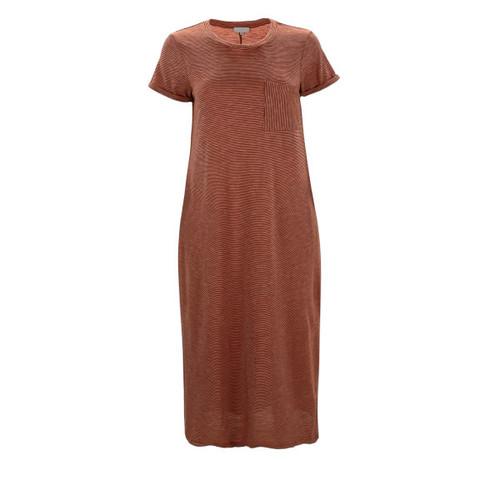 Reese Midi Length T-Shirt Dress - Rust
