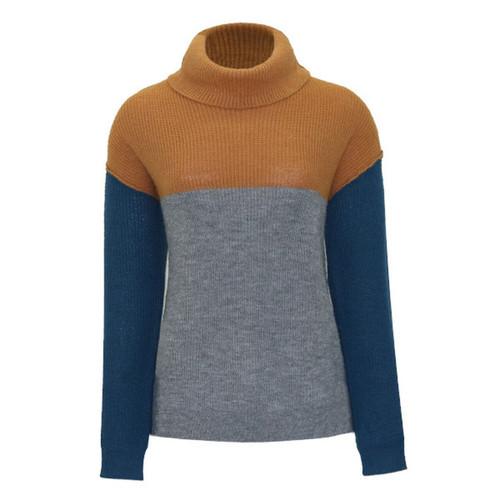 Lucille Color Block Turtleneck Sweater