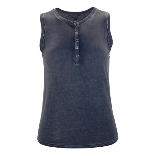Your Go To Tank by POL  - Washed Black