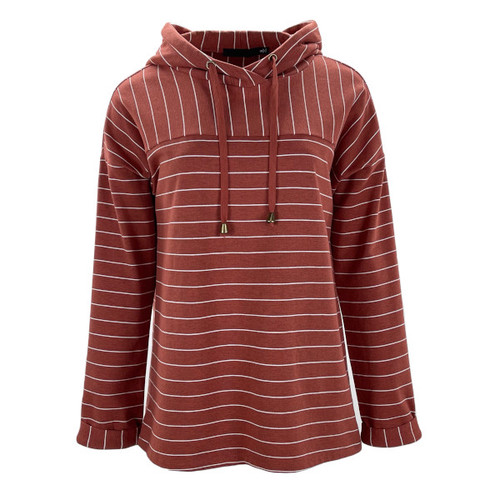 Go Get It Hooded Striped Pullover