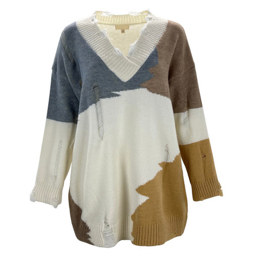 My One Chance Distressed Sweater