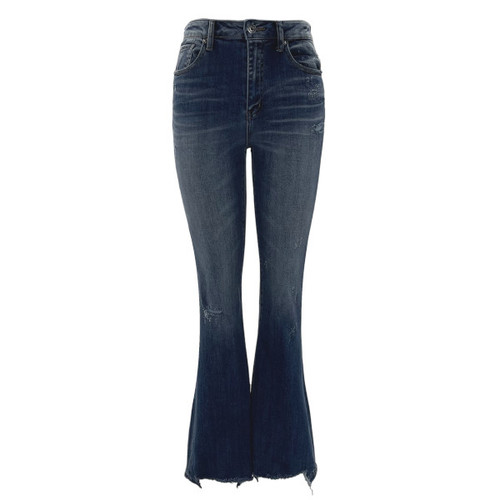 Boston Vintage Washed Flare Jeans by Risen