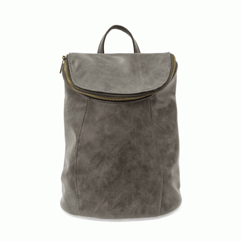 Alyssa Distressed Backpack - Grey