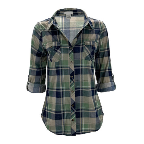 Your New Favorite Flannel - Sage/Navy