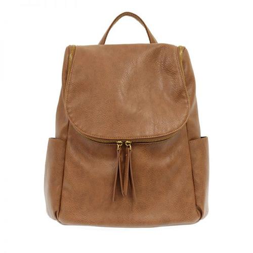 Kerri Side Pocket Backpack - Saddle
