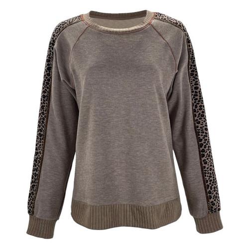 It's All Good Leopard Print Sweatshirt