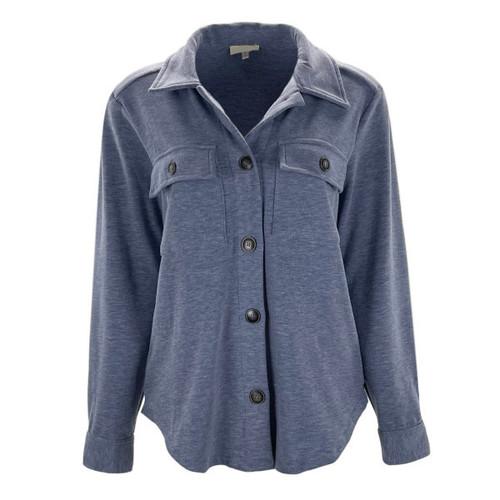 Unbelievable Story Shirt Jacket - Denim Blue