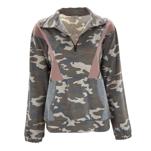 No Looking Back Camouflage Pullover