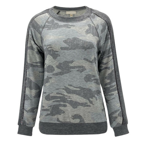 Neverland Camo Fleece Pullover Sweatshirt