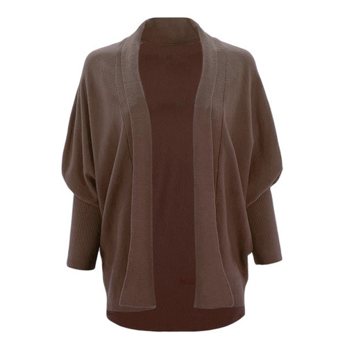Have Faith Dolman Sleeve Cardigan - Cocoa