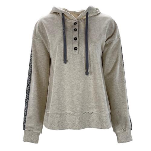 Bless You Henley Hooded Sweatshirt