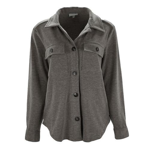 Unbelievable Story Shirt Jacket - Charcoal