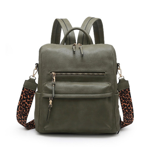 Bailey Convertible Backpack - Olive