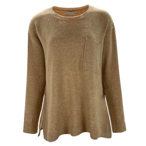 Keep Smiling Boxy Sweater - Pale Yellow