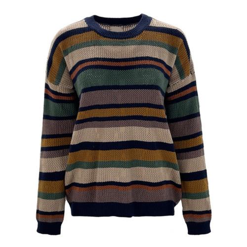 Nora Striped Crew Neck Sweater
