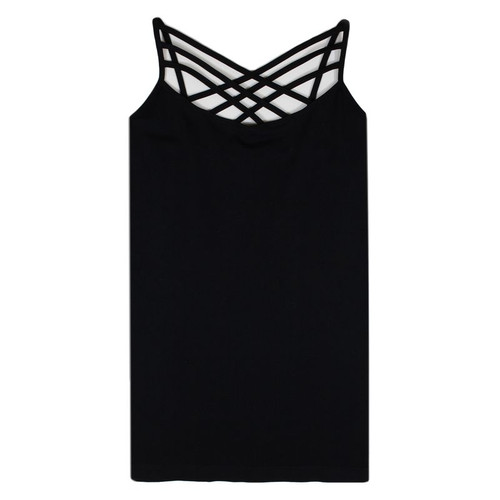 Black Criss Cross Cami