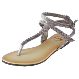 82006b00d06 Alpine Swiss Womens Gladiator Sandals Braided T-Strap Slingback Roman Flats