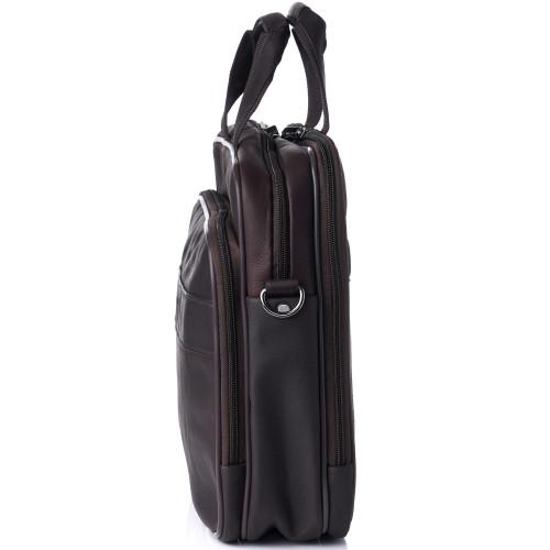 Alpine Swiss Messenger Bag Leather 15.6 Laptop Briefcase Portfolio Business Case