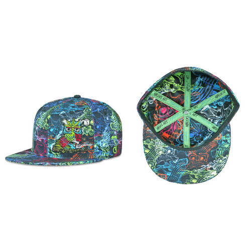 Buy a Rainbow Aaron Brooks Herbowl Fitted Hat Online from Tree Huggers Co-op