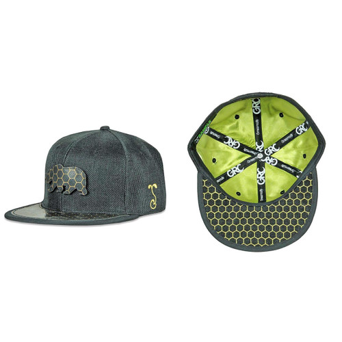 Buy a Black BearSlick Removable Bear 2018 Fitted Hat Online from Tree Huggers Co-op