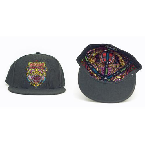 Buy a Black Chris Dyer OG Bear Hemp Fitted Hat Online from Tree Huggers Co-op
