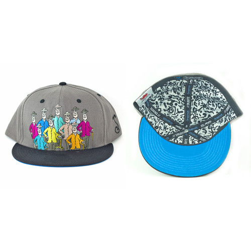 Buy a Gray Jerry Garcia Guys Fitted Hat Online from Tree Huggers Co-op