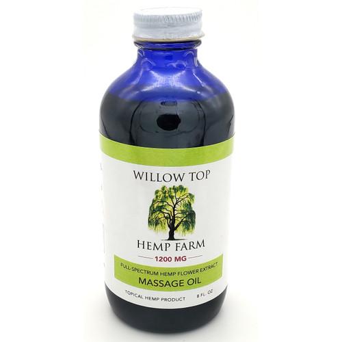 Buy Willow Top Hemp CBD Massage Oil - 1200mg Online from Tree Huggers Co-op