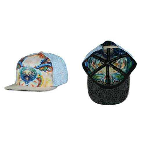 Buy a Randal Roberts x Morgan Mandala Scarab Snapback Hat (Blue) Online from Tree Huggers Co-op