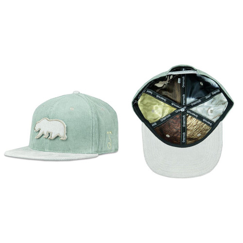 Buy a Removable Bear Corduroy Snapback Hat (Sage) Online from Tree Huggers Co-op
