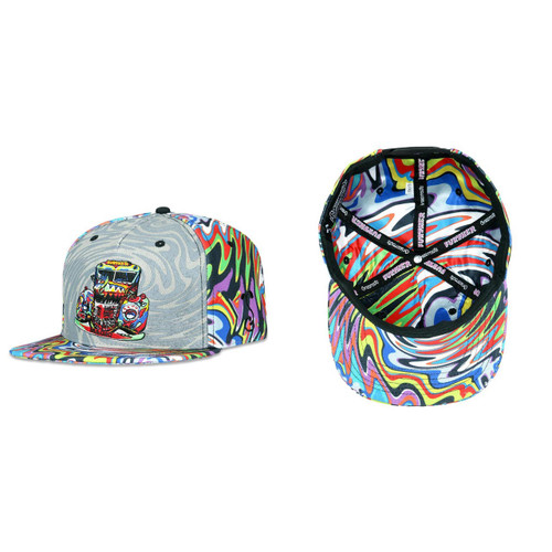 Buy a Stylish Further Bus Psychedelic Snapback Hat Online from Tree Huggers Co-op