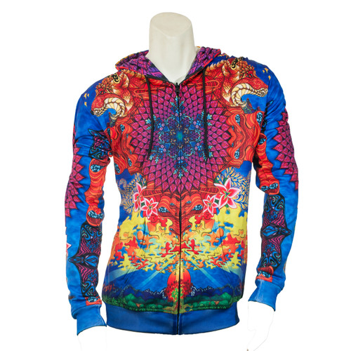 Buy a Stylish Phil Lewis Sunshine Daydream Reversible Zip-up Hoodie Online from Tree Huggers Co-op