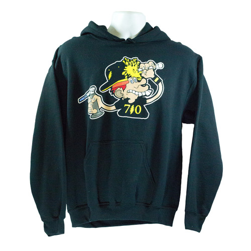 Buy a Stylish 710 Dab Kid Pullover Hoodie (Black) Online from Tree Huggers Co-op