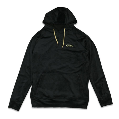 Buy a Stylish Royal Roots Velour Men's Black Pullover Hoodie Online from Tree Huggers Co-op
