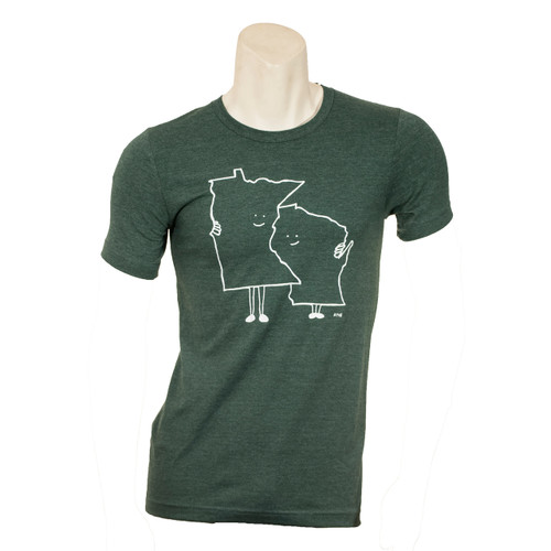 Buy a Stylish MN/WI Border Buds T-Shirt Online from Tree Huggers Co-op