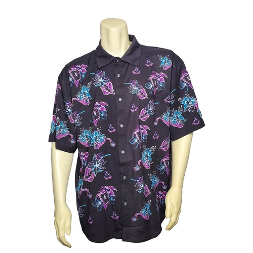Buy a Stylish Deja Frog Hawaiian Button-Up T-Shirt Online from Tree Huggers Co-op