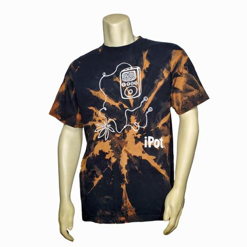 Buy a Stylish iPot Bleach Tie-Dye T-Shirt (Black) Online from Tree Huggers Co-op