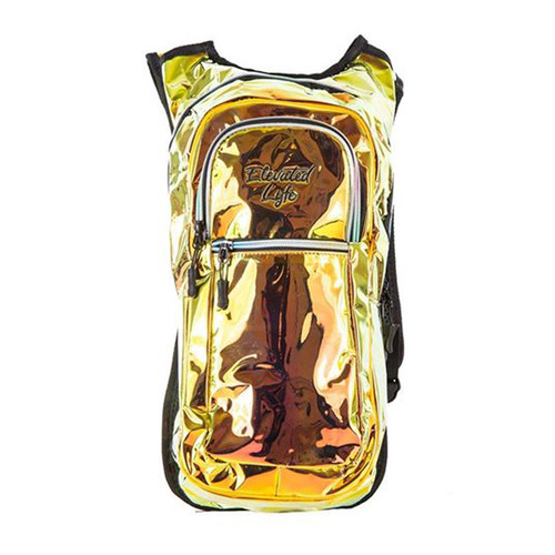 Buy a Gold Holographic w/ Light Up EL Wire - Classic Collection V2 Hydration Pack (2L) Backpack Online from Tree Huggers Co-op.